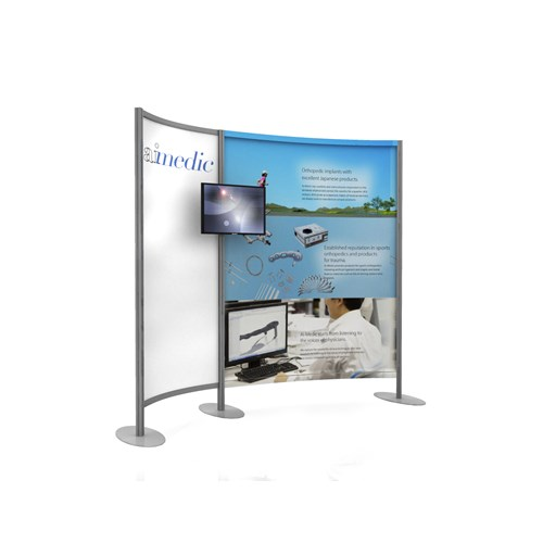 8' Curved Graphic Kiosk