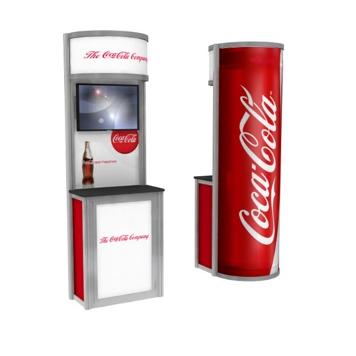 "36"" x 72"" Retail Kiosk with Bubble Back-Lit Panel"
