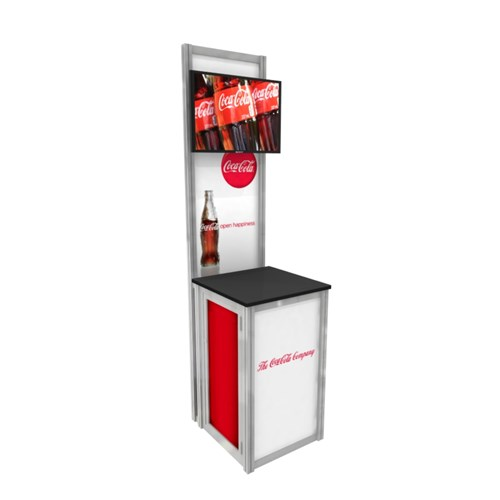 "24"" x 60"" Small Square Kiosk with Media"