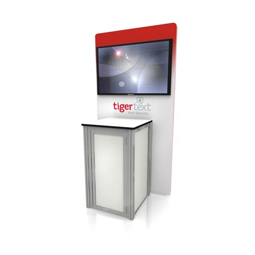 "48"" x 72"" Rental Kiosk with Back-Wall Graphics and Media"