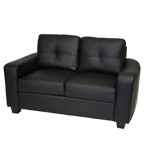 "62"" Madrid Leather Loveseat"