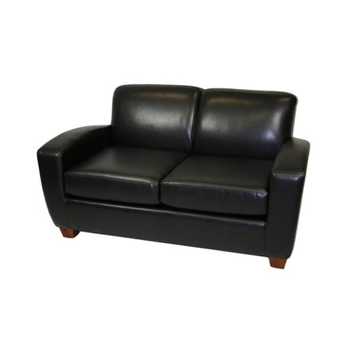 "59"" Scandic Leather Loveseat"