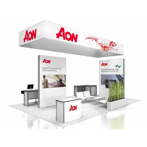 20' x 30' Rental Exhibit with Perimeter Hanging Sign