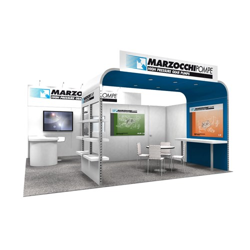 20' x 20' Rental Exhibit with Canopy & Storage