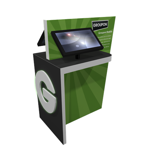 "55"" Double Sided Kiosk with Divider"