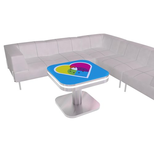 "30"" Square Charging Coffee Table With Rounded Edges"