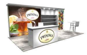 Twinings 10x20 exhibit rental design