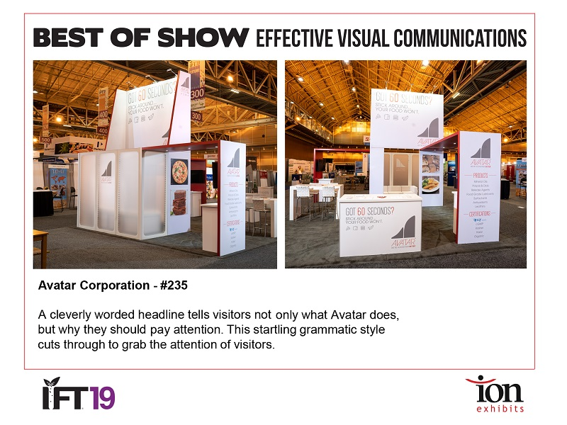 Best Of Show Trade Show Exhibit - Avatar Corporation